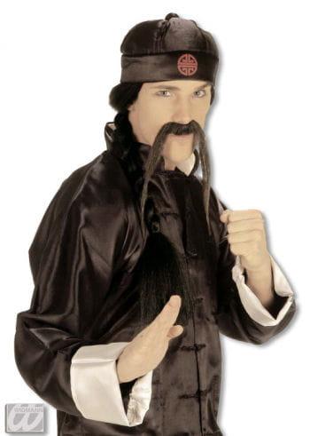 Chinesischer Hut mit Zopf