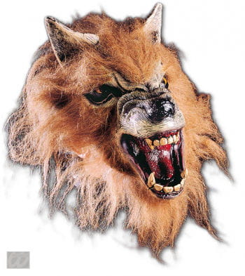 Fletschende Werwolf Halbmaske