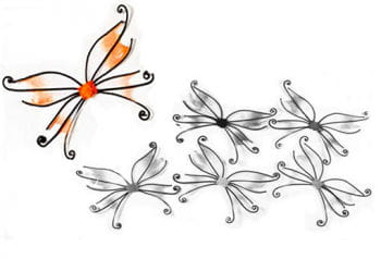 Orange butterfly wings