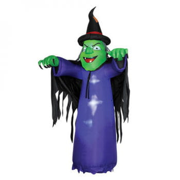Inflatable giant witch with lighting 3,60cm
