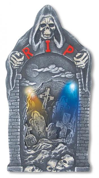 LED Tombstone Grim Reaper