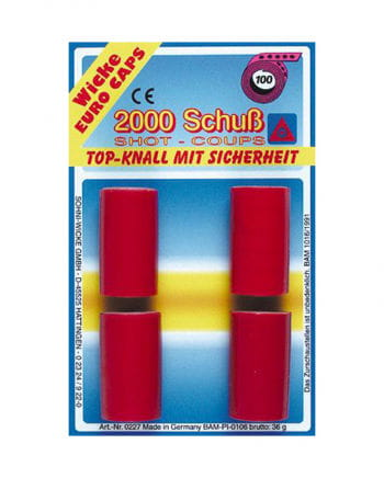 2000 Schuss Spielzeugwaffen Munition
