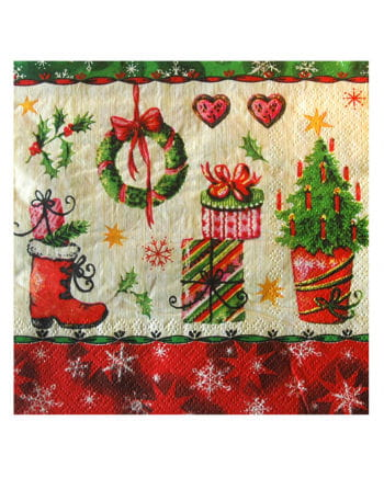 Servietten mit Weihnachtsmotiven
