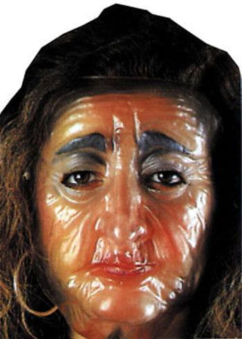 Transparent Maske Old woman