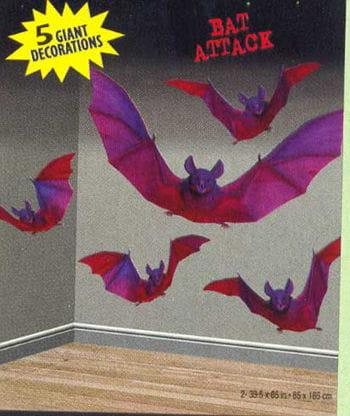 Bat Attack Wandfolie