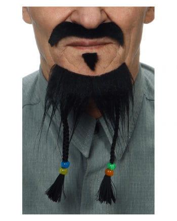 Schwarzes 3-teiliges Bart Set