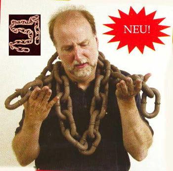 Black iron chain