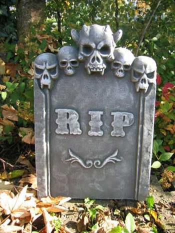 Tombstone Devil Skull