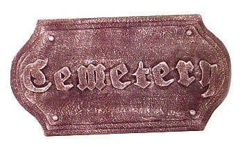 Friedhofschild / Cemetery Sign