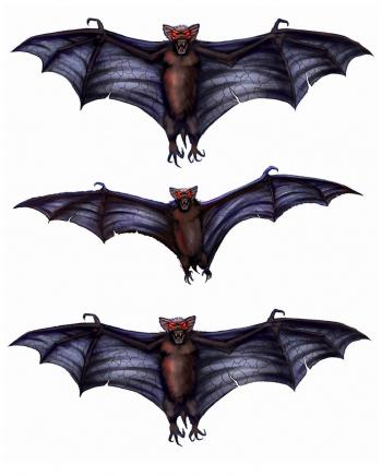 3D Bat Window Sticker 3er Set