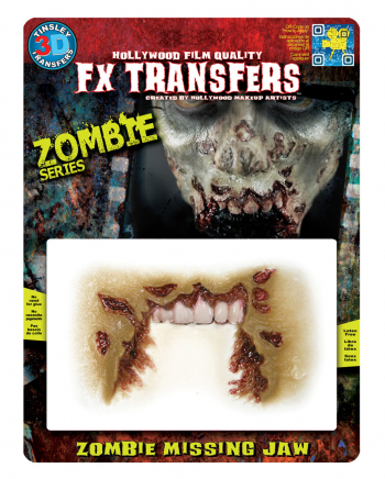 3D FX Transfer Tattoo Wound Zombie Mouth