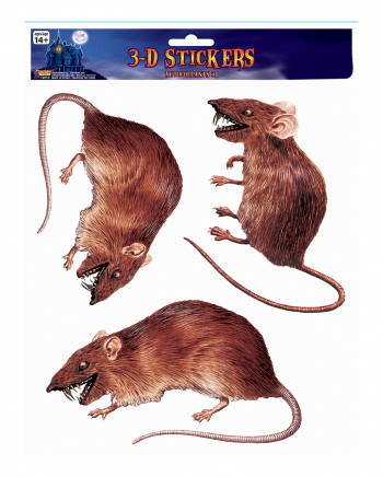 3D Rats Window Sticker