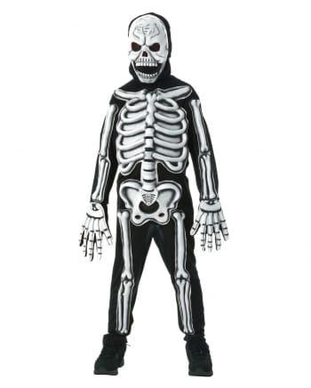 Skelett 3D Kostüm für Kinder