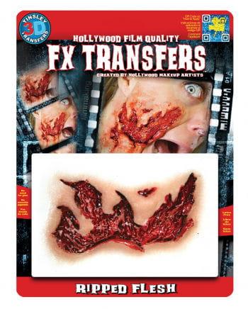 3D FX große Fleischwunde Transfer Tattoo