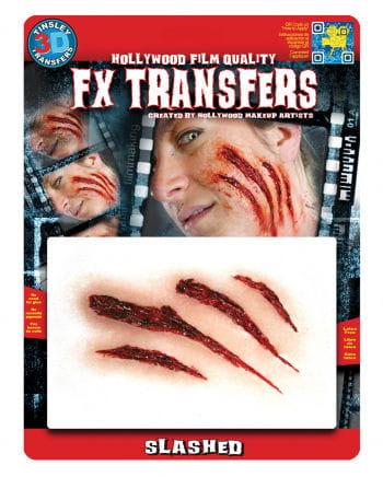 3D FX Kratzer Wunden Transfer Tattoo