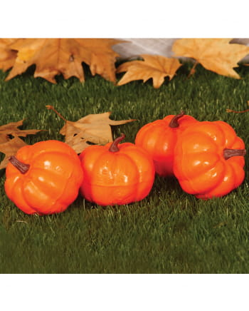 4 Pc. Mini Decoration Pumpkins For Halloween 10cm