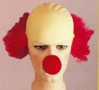 Clown Glatze mit Haar