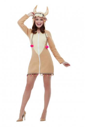 Lama Kostümkleid mit Kapuze für Frauen