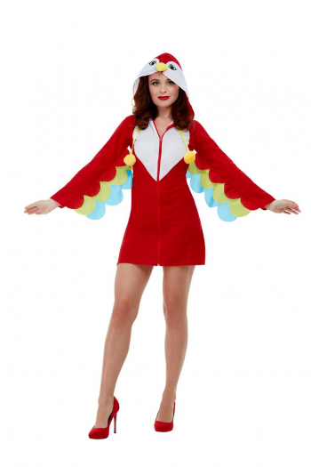Papageien Kostümkleid mit Kapuze für Frauen