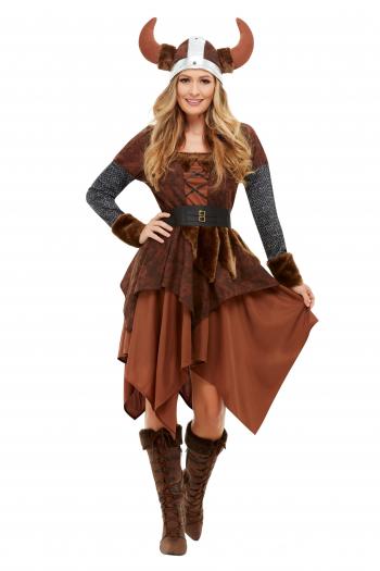 Viking Barbarian Queen Kostüm für Erwachsene