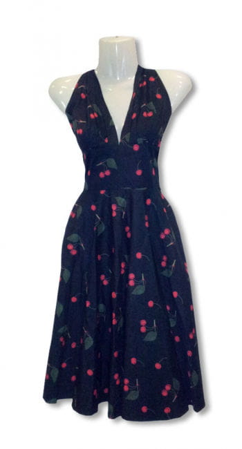 50s dress with cherries