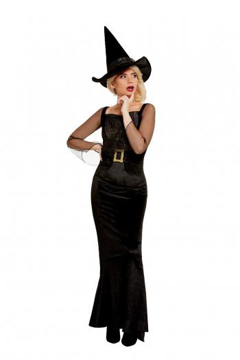 Black Glam Witch Hexenkostümkleid für Erwachsene