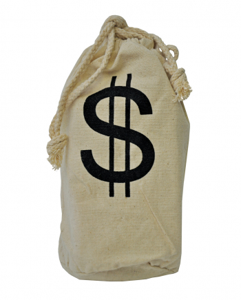 Bankräuber Geld Sack aus Leinen