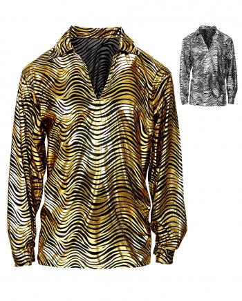 70`s Disco King Hemd Gold oder Silber