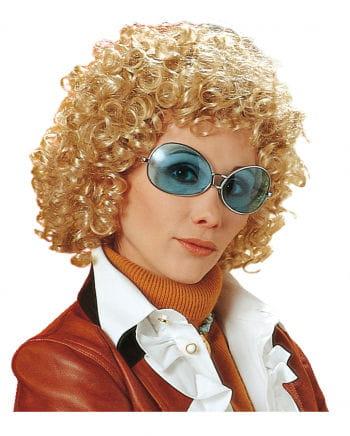 70er Jahre Lockenperücke Uschi Blond