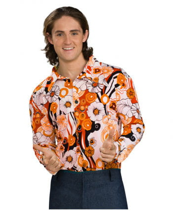 70s Groovy orange shirt