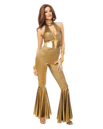 Goldenes 70s Disco Diva Kostüm