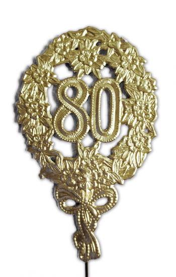Jubiläums Zahl Achtzig gold