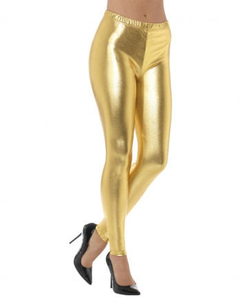 80s Metallic Leggings gold