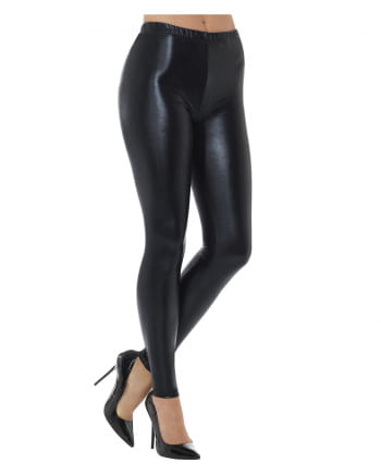 80s Disco Metallic Leggings schwarz