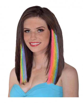 80´s Regenbogen Haar Extensions