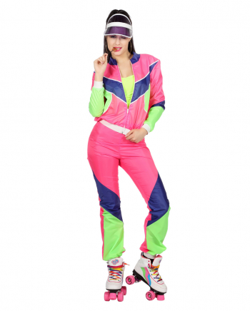 80s Tracksuit Ladies Costume