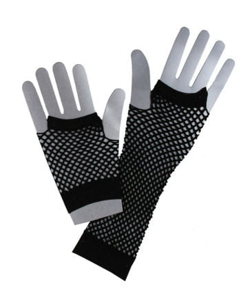 80s Netzhandschuhe Black