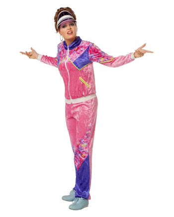 80er Damen Kostüm Trainingsanzug