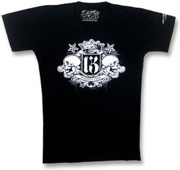 Crowned Double Skull T Shirt Gr. M