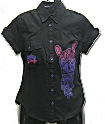 rock on shirt Gr. M