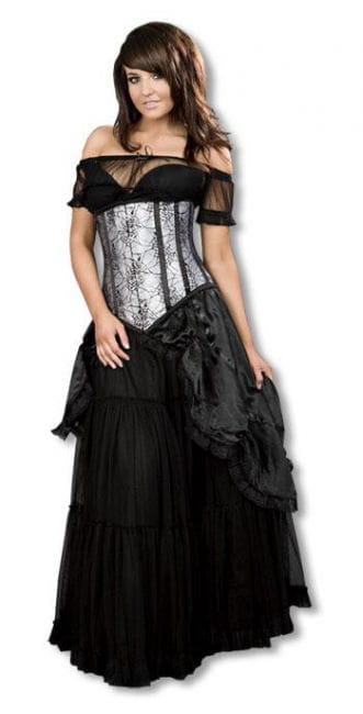 viktorianischer satinrock schwarz ml gothic r cke in go er auswahl karneval universe. Black Bedroom Furniture Sets. Home Design Ideas
