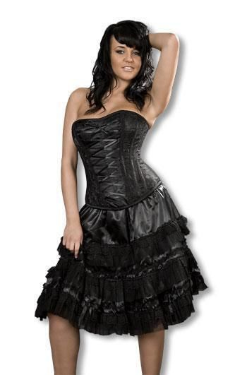 Gothic Lolita Skirt with Lace ML