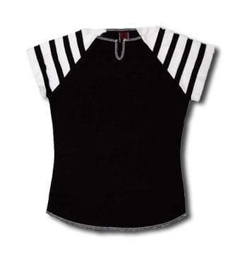 T Shirt Black White Size L