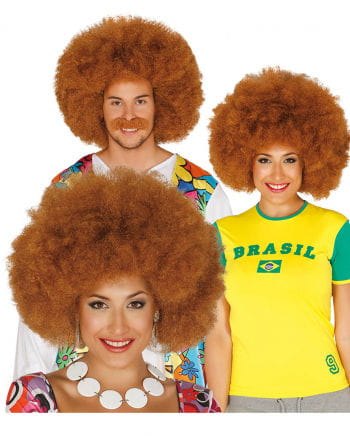 Braune Afro Look Perücke