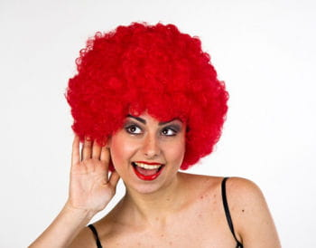 Afro Clown Wig Red