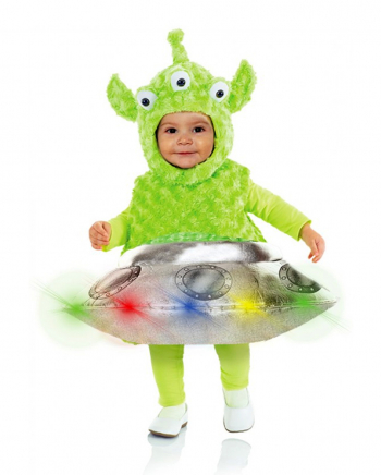 Alien & Ufo mit LED´s Kleinkinderkostüm