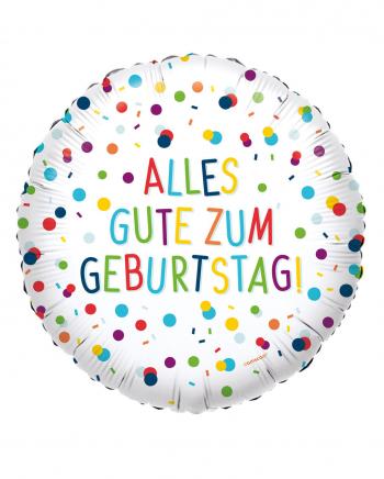 Happy Birthday Confetti Foil Balloon