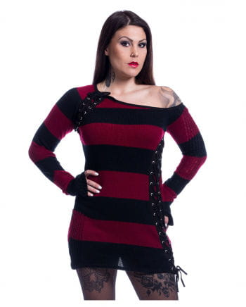 Alley Gothic Top Black Red