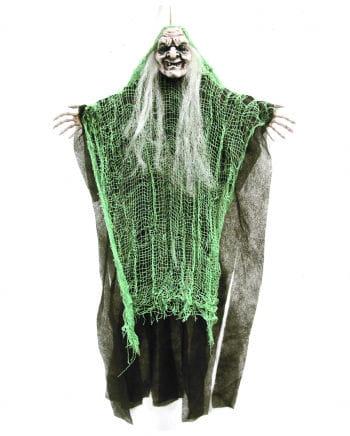 Fetzen Hexe Hängedeko grün 67cm