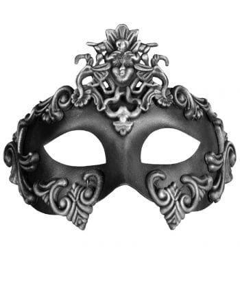 Altertümliche Augenmaske silber-schwarz